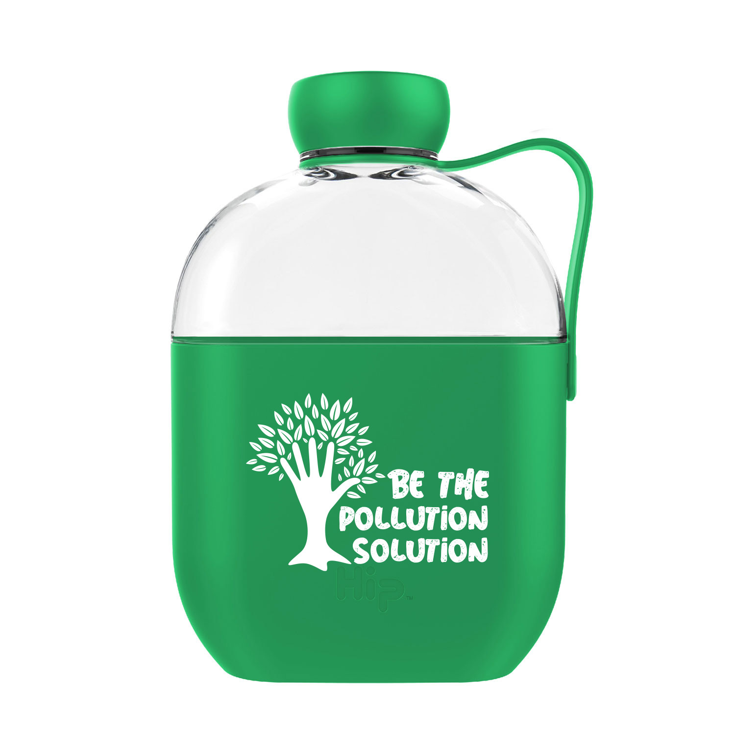glass water bottle with silicone wrapping and carrying strap