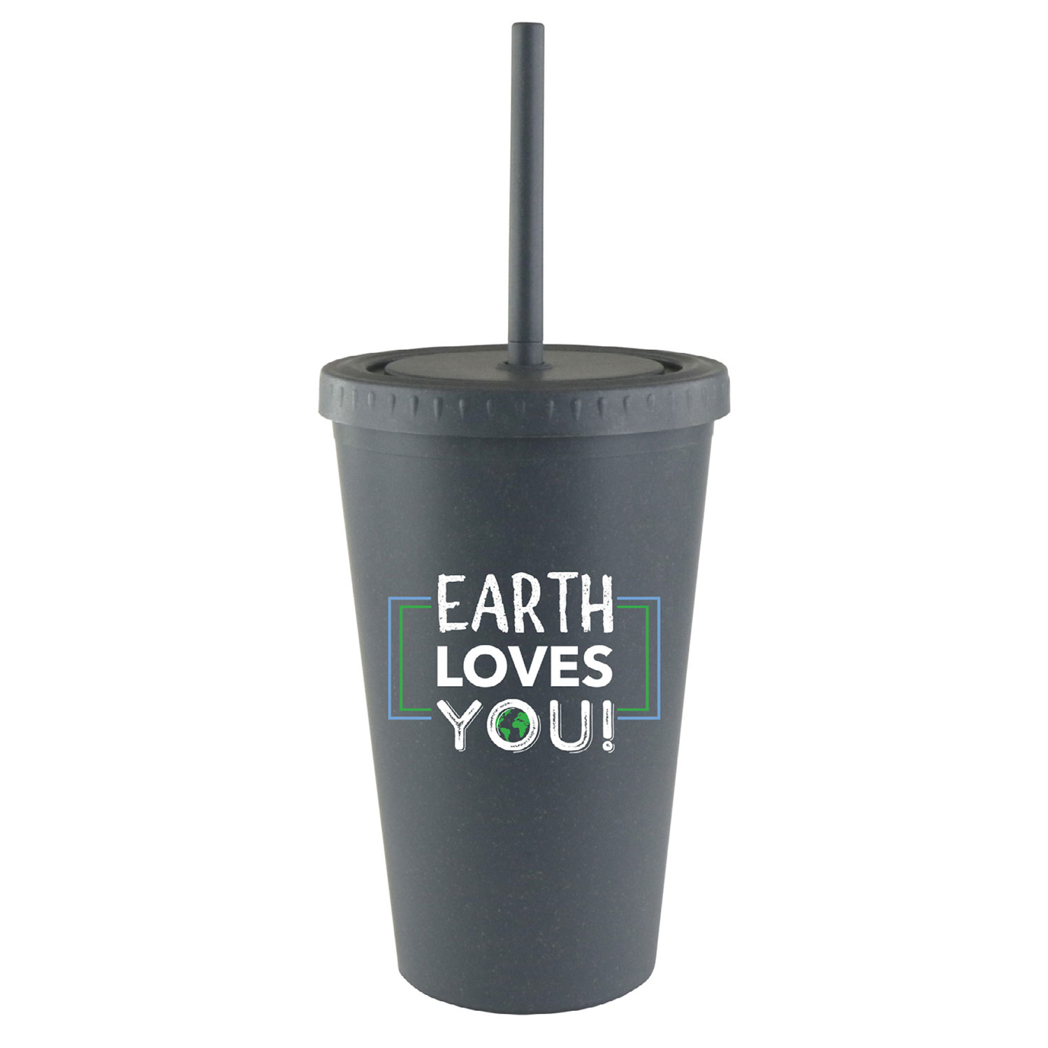 straw cup with lid made of eco-friendly wheat straw