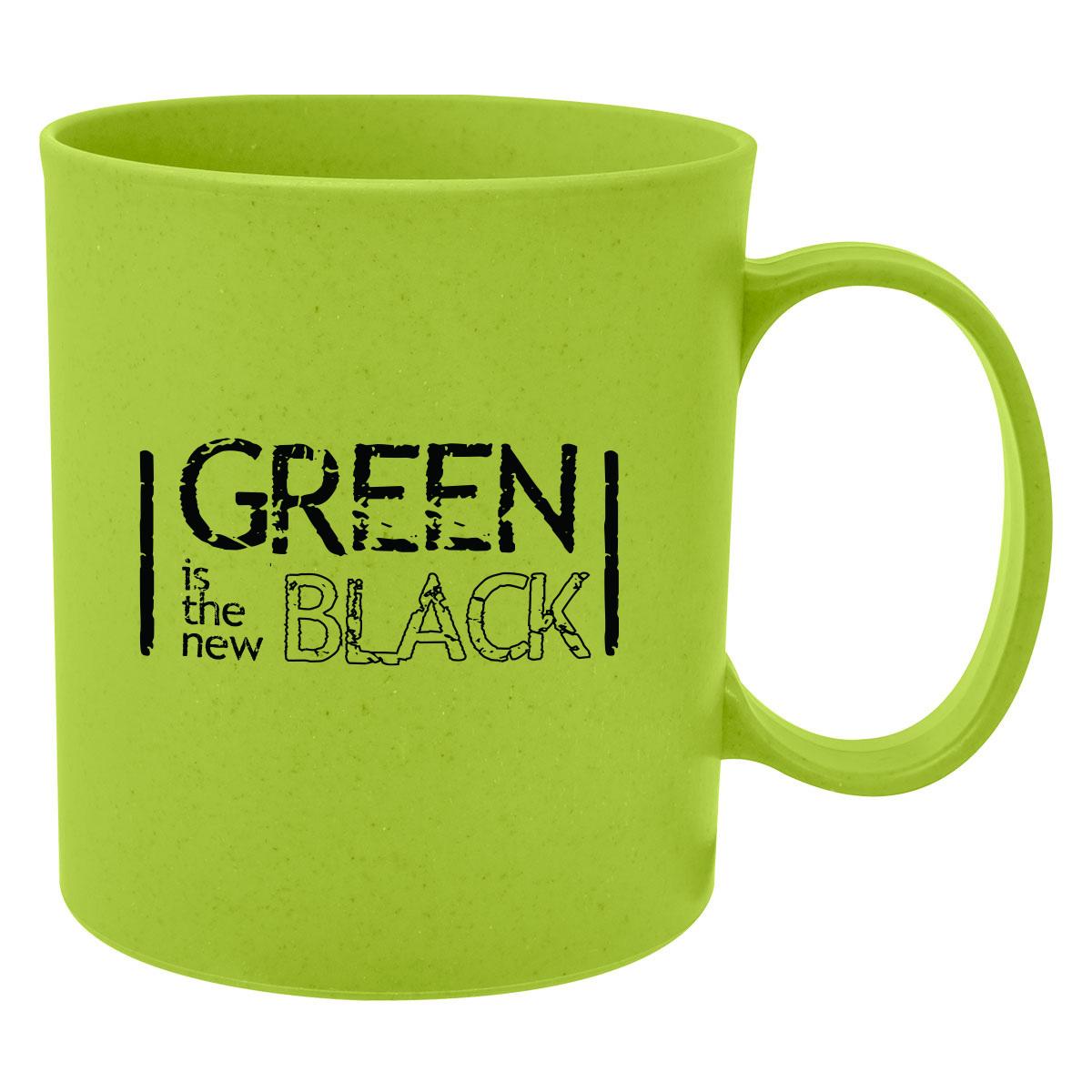 mug made of wheat straw