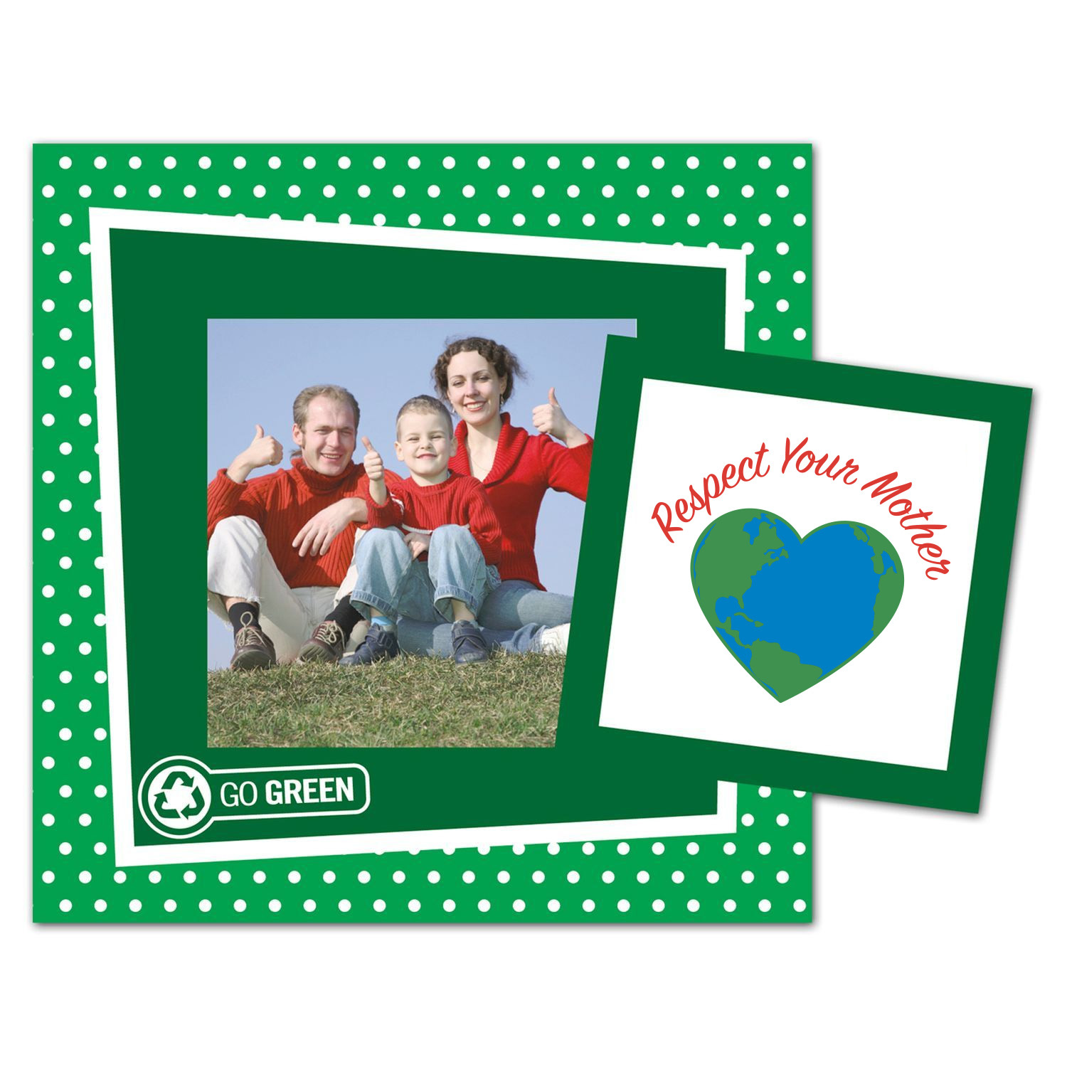 recycled paper picture frame magnet