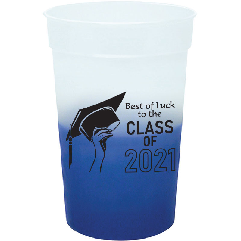 Color-changing cup with graduation imprint