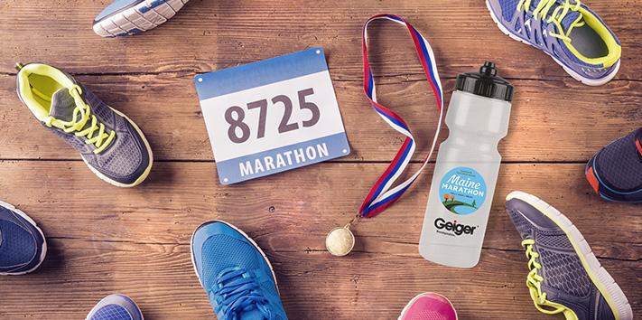 2021 Maine Marathon Water Bottle