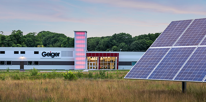 Solar panels at Geiger's Corporate Office