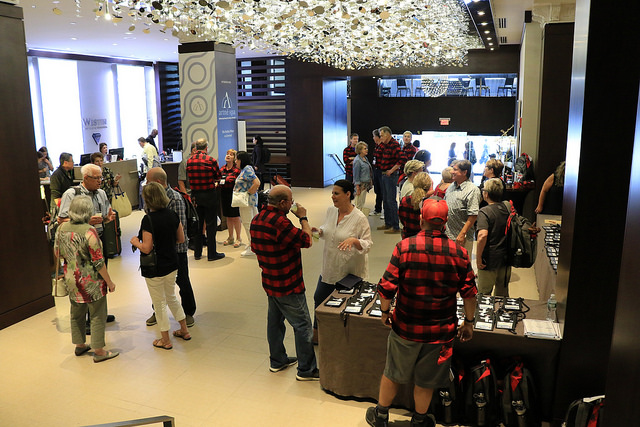 Tradeshow with plaid theme